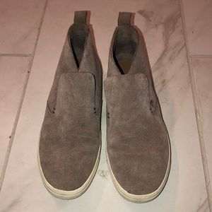 Taupe suede sneakers